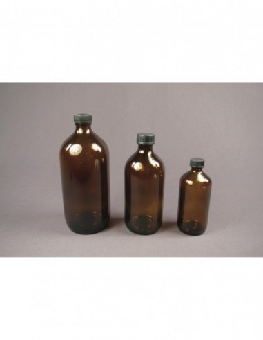 Bouteille en verre ambré  250 ml